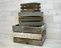 barn wood milk crate nesting set of 3 tags wood box barn