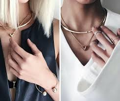 choker necklace layered images 15 ways to wear layered necklace like a pro png