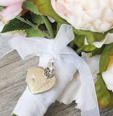 wedding keepsakes in memory of bouquet locket wedding bouquet locket