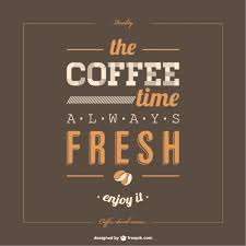 lettering poster coffee template vector free download
