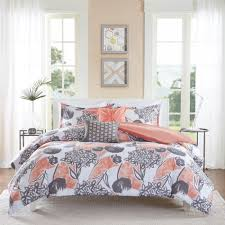 Coral Colored Comforters Add A Pop Color To Your Space With The Lily Coral Comforter Set