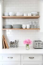 White Wooden Shelves by 63 Best Kitchen Shelves Images On Pinterest Home Open Shelves