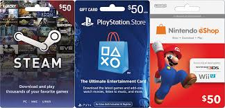 nintendo gift card 100 steam wallet psn nintendo eshop gift cards on sale for 85