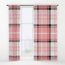 Pink Tartan Curtains Tartan Window Curtains Society6