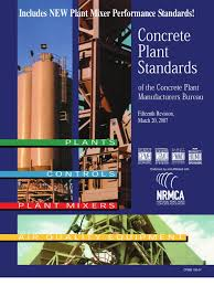 plant standards of the cpmb 100 07 weighing scale concrete