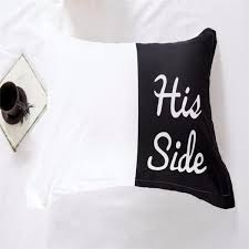 his and hers bed set side his side 100 cotton bedding set morning quote