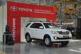 toyota fortuner assembly at kazakhstan begins indian cars bikes