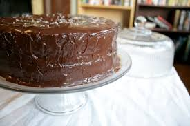 chocolate cake with salted caramel ganache sel et sucre