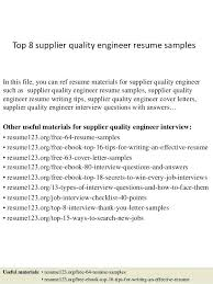 sample quality engineer resume aircraft maintenance and quality