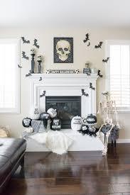 mantle decor black and white halloween mantle decor treehouse threads
