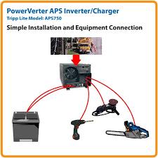 amazon com tripp lite aps750 inverter charger 750w 12v dc to