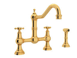 rohl country single handle pull out sprayer kitchen faucet in