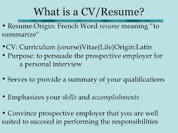 What Is The Difference Between Resume And Cv Cv Writing