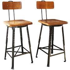 industrial bar table and stools wonderful pair of vintage industrial adjustable wood and metal