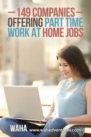 149 companies that offer part time work from home