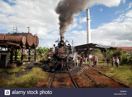 Trains In America Cuba Old Steam Train In 1913 In Small Town Of Australia Cuba With