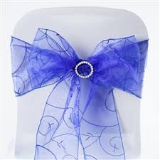 royal blue chair sashes organza sash organza chair sashes