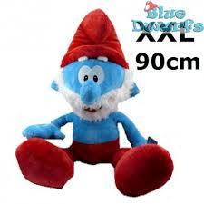 smurf plush papa smurf xxl 90 cm bluedwarfs