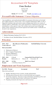 free accountant resume accountant cv template tips and cv plaza