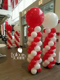 balloons by tommy on balloon columns white balloons and grand