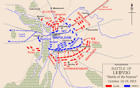 map of leipzig of the battle of leipzig battle of the nations