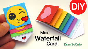 how to make a mini waterfall card diy easy craft