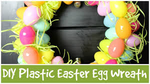 how to make an easter egg wreath diy plastic easter egg wreath