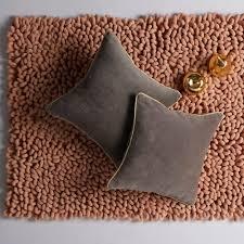 rhubarb velvet floor cushion buy velvet cushions online large
