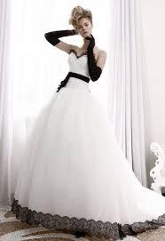 Black And White Wedding Dress Black And White Bridal Gowns Weddingsrusdeco