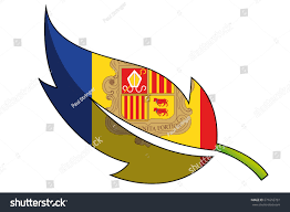 Andorra Flag Flag Illustration Country Andorra Stock Vector 671616781