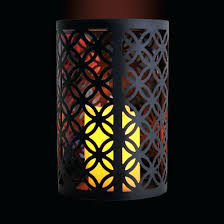 Flameless Candle Wall Sconce Sconce 10 Inch Metal Wall Sconce With Flameless Led Candle Black