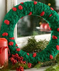 christmas wreath crochet pattern and christmas wreath knitting