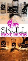 halloween skull candle holders oh my creative