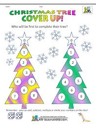 christmas maths games tree cover up winter activities with kids
