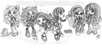 monster high chibi coloring pages monster high chibi group by i heart link on deviantart