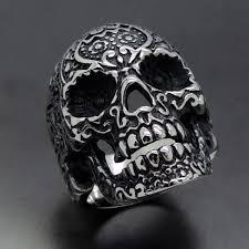 imagenes de calaveras hombres anillo hombre acero inox calavera motociclista sz 10 530 00 en