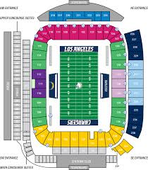 seating chart los angeles chargers