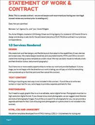 web design proposal sample statement of work and contract web