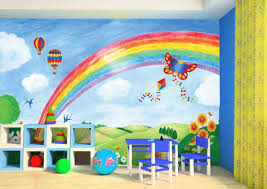 Wallpaper Children Large Wall Mural Rainbow In The Parkkid In The Mural