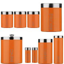 unique orange accessories for kitchen