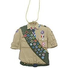 kurt adler glass boy scout logo ornament home kitchen