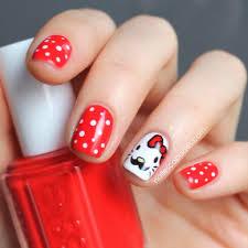 nail escapades hello kitty movember nails