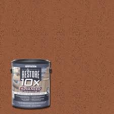 Flo Coat Resurfacer by Rust Oleum Restore 1 Gal 10x Advanced Redwood Deck And Concrete