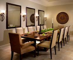 round decorative mirror dining room contemporary with table