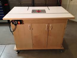 Router  Downdraft Sanding Table FineWoodworking - Downdraft table design
