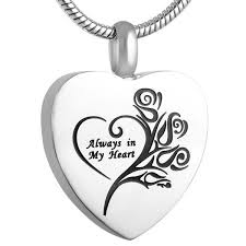 ashes locket always in my heart cremation ashes locket pendique lockets