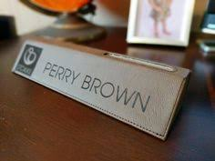Desk Name Plates With Business Card Holder Nameplates With Style Youll Have No Problem Hitting It Off With
