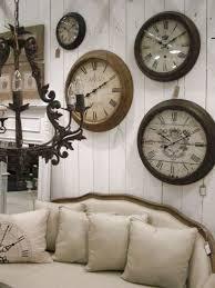 living room with vintage wall clocks ways to hang wall clocks