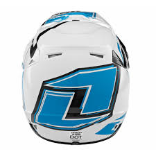 one industries motocross gear one industries atom array helmet orange cyan mxweiss motocross shop