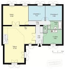 plan maison 7 chambres superbe plan maison en l 4 chambres 7 maison familiale 1 d233tail